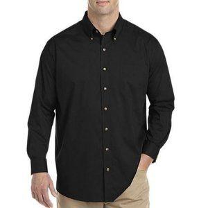 Harbor Bay Men's Long Sleeve Button Up Shirt 4XLT